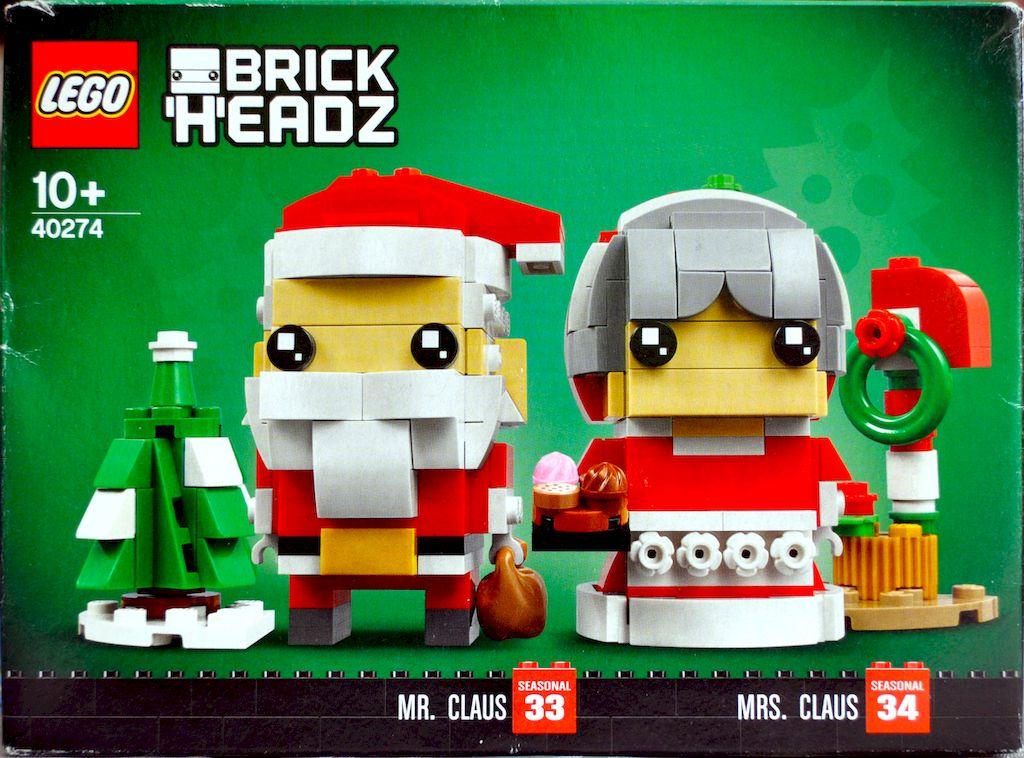 Herr und Frau Weihnachtsmann BrickHeadz