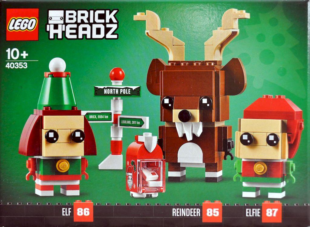 Rentier und Elfen BrickHeadz