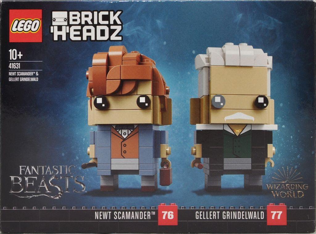 Newt Scamander & Gellert Grindelwald BrickHeadz - Newt - Front