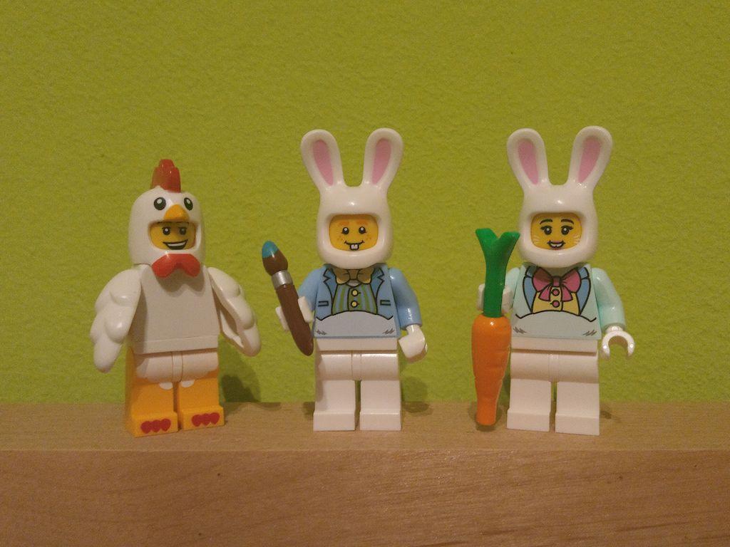 Osterliche LEGO-Minifiguren - Osterdeko